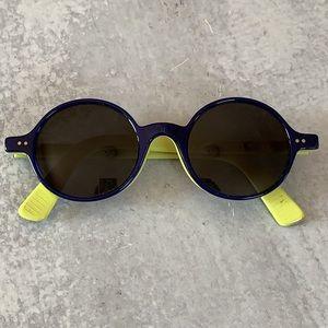 Morgenthal Frederics DOM round blue sunglasses